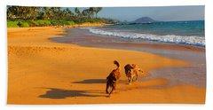 Hawaiian Beach Dogs Bath Towel