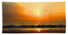 Hand Towel featuring the photograph Hawaiian Beach by Michael Rucker