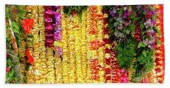 Hawaiian Flower Lei's Bath Towel