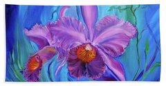 Hawaiian Orchid Lavender Bath Towel