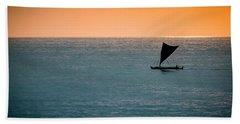Hawaiian Outrigger Canoe Bath Towel by Mary Lee Dereske