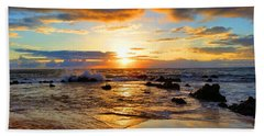 Hawaiian Paradise Hand Towel by Michael Rucker
