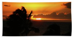 Hand Towel featuring the photograph Hawaiian Sunset by Anthony Jones
