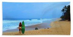 Hawaiian Surfer Girl Bath Towel
