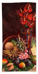 Hawaiian Tropical Fruit Still Life Hand Towel