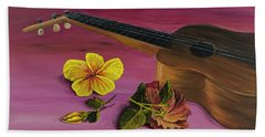 Hawaiian Ukulele Bath Towel