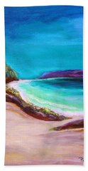 Hand Towel featuring the painting Hawaiin Blue by Patricia Piffath