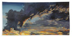 Bath Towel featuring the painting Hawcreek 7.11 by Stuart Engel