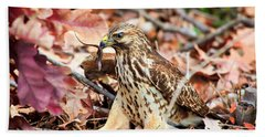 Hawk Catches Prey Hand Towel