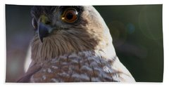 Bath Towel featuring the photograph Hawk Eyes by Mary-Lee Sanders