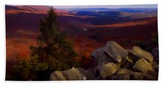 Bath Towel featuring the photograph Hawk Mountain Pennsylvania by David Dehner