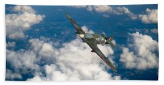 Hand Towel featuring the photograph Hawker Hurricane IIb Of 174 Squadron by Gary Eason