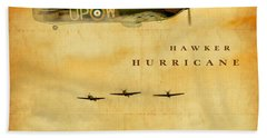 Bath Towel featuring the digital art Hawker Hurricane Raf by John Wills