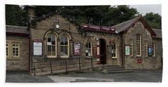 Haworth Railway Station Bath Towel by David  Hollingworth