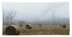 Hay Bales In A Field Hand Towel