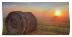 Hand Towel featuring the photograph Hayrise by Dan Jurak