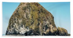 Bath Towel featuring the photograph Haystack Rock by Anthony Baatz