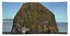 Haystack Rock, Cannon Beach, Or Bath Towel