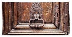 Hazel - Paris Door Photography Hand Towel by Melanie Alexandra Price