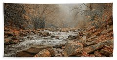 Hazy Mountain Stream #2 Bath Towel
