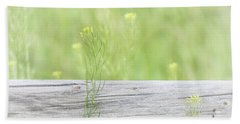 Hand Towel featuring the photograph Hazy Yellow Wildflowers by Jennie Marie Schell