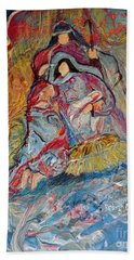 Bath Towel featuring the painting He Dwelt Among Us by Deborah Nell