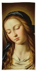 Head Of The Madonna Hand Towel