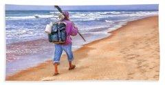 Heading Home - Ocean Fisherman Hand Towel