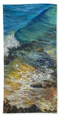 Hand Towel featuring the painting Heading Out To Sea by Darice Machel McGuire