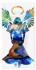 Healing Angel - Spiritual Art Painting Bath Towel