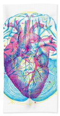 Heart Brain Hand Towel