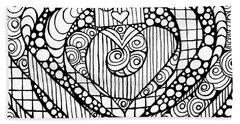 Heart Crown Tangle Bath Towel