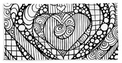 Heart Crown Tangle Hand Towel