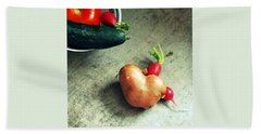 Heart For Lunch Hand Towel by Marija Djedovic