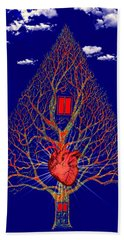 Heart Is The Abode Of The Spirit Bath Towel by Paulo Zerbato