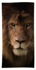 Heart Of A Lion - Wildlife Art Hand Towel