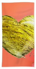 Heart Of Gold Hand Towel