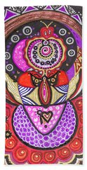 Heart Of The Feminine Hand Towel