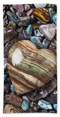 Heart Stone Bath Towel