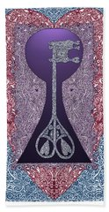 Heart With Lock And Skeleton Key Bath Towel