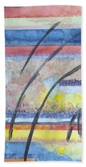 Bath Towel featuring the painting Heartbeat by Jacqueline Athmann