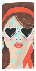Hand Towel featuring the painting Heartbreaker by Kathleen Sartoris