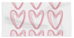 Hearts Bath Towel