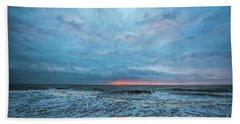 Heaven At Folly Beach Hand Towel by Robert Loe