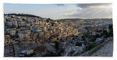 Heaven Shines On The City Of David Hand Towel