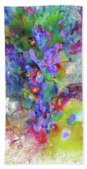 Bath Towel featuring the painting Heavenly Cosmos Series 1975.032914invertfadediff by Kris Haas
