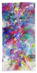 Bath Towel featuring the painting Heavenly Cosmos Series 1976.032914invertfadediff by Kris Haas
