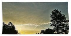 Hand Towel featuring the photograph Heavenly Morning In Helena by Maria Urso