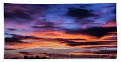 Hand Towel featuring the photograph Heavenly Sunrise by Karen Slagle