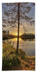 Hand Towel featuring the photograph Heavenly Sunset by Rose-Marie Karlsen
